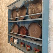 Полки ручной работы. Ярмарка Мастеров - ручная работа Модель 13 полка для тарелок. Handmade.