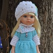 Куклы и игрушки handmade. Livemaster - original item Dress, hat, Snood and leggings for Paola Reina doll.. Handmade.