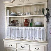 Для дома и интерьера handmade. Livemaster - original item Linen curtains with cotton lace