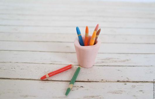 """Миниатюра ручной работы. Ярмарка Мастеров - ручная работа. Купить Миниатюра """"Цветные карандаши"""". Handmade. Миниатюра, миниатюра из пластики"""