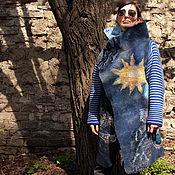 Одежда ручной работы. Ярмарка Мастеров - ручная работа Оверсайз жакет-полупальто `космический`. Handmade.