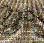 Украшения handmade. Livemaster - original item Long necklace made of natural stones (unakite,aventurine). Handmade.