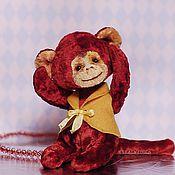Куклы и игрушки ручной работы. Ярмарка Мастеров - ручная работа Red Monkey Красная обезьянка. Огненная обезьяна символ 2016 года. Handmade.