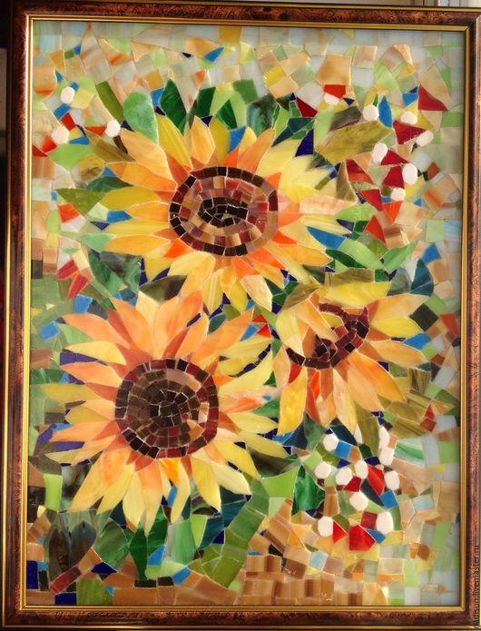 Стеклянная мозаика Надежды Стрелковой. Больше солнца, больше позитива!