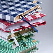 """Cover handmade. Livemaster - original item Обложки для книг """"в клеточку"""" обложка на ежедневник. Handmade."""