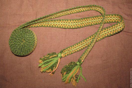 Ткачество ручной работы. Ярмарка Мастеров - ручная работа. Купить Пояс тканый. Handmade. Зеленый, пояс тканый, Ткачество