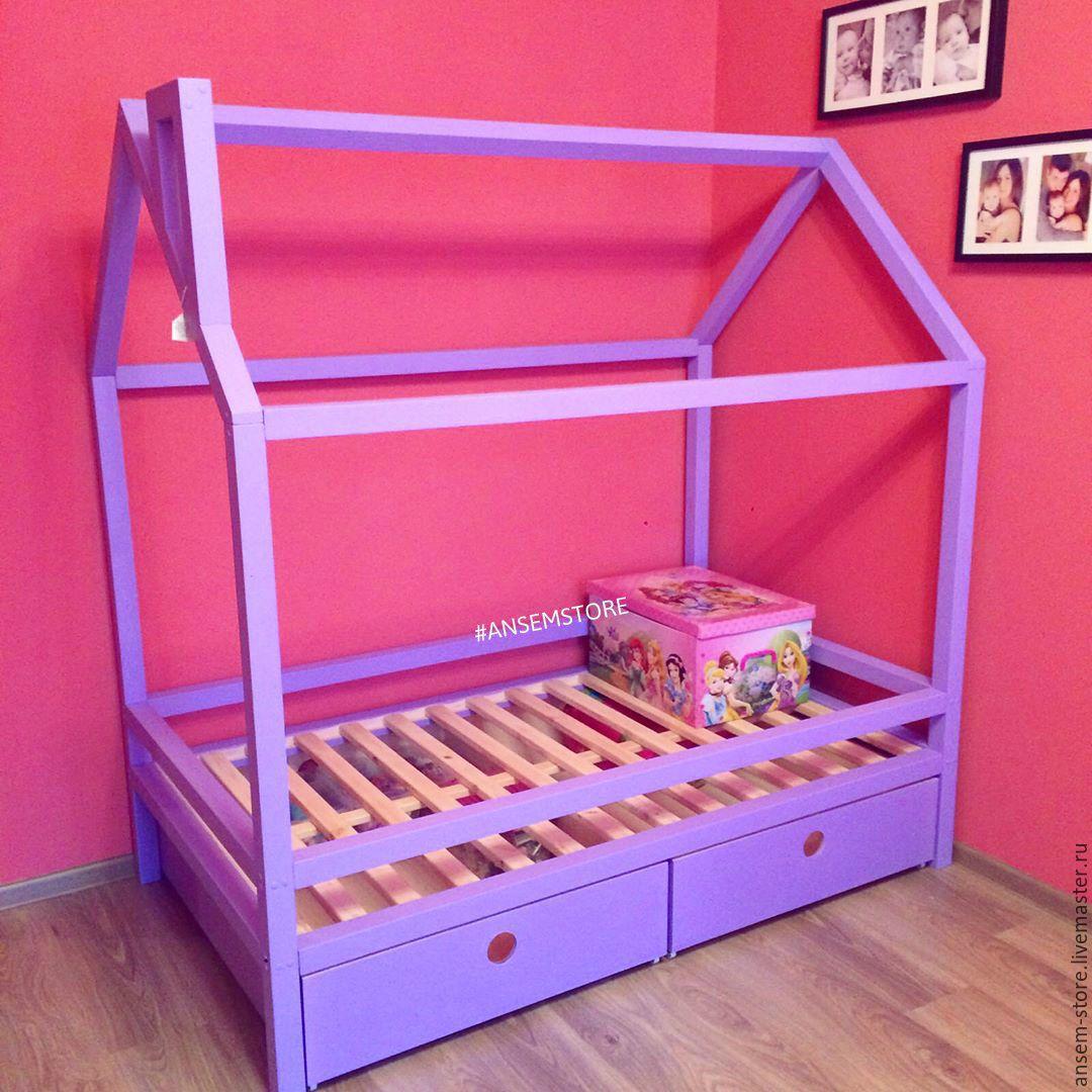 Детская кровать домик для девочки своими руками 23