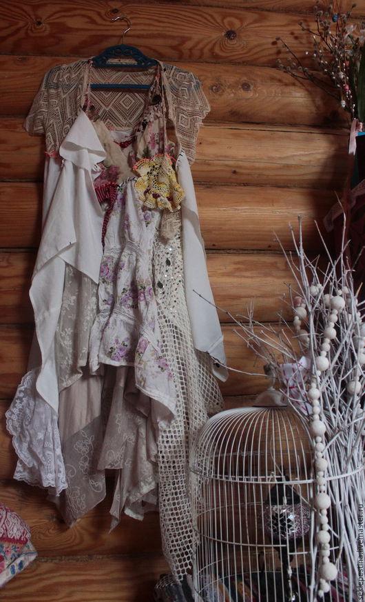 Платья ручной работы. Ярмарка Мастеров - ручная работа. Купить платье для  феи(новинка). Handmade. Белый, светлое, с бусинками, на торжество, хлопок