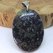 Украшения handmade. Livemaster - original item Night Field Pendant (Piedmontite Epidote quartz). Handmade.