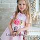Одежда для девочек, ручной работы. Платье детское look 60 с дизайнерским поясом. Дарья (LadyLook). Интернет-магазин Ярмарка Мастеров.