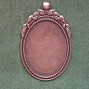 Материалы для творчества handmade. Livemaster - original item Pendant base pendant, cabochon,cameo. Handmade.