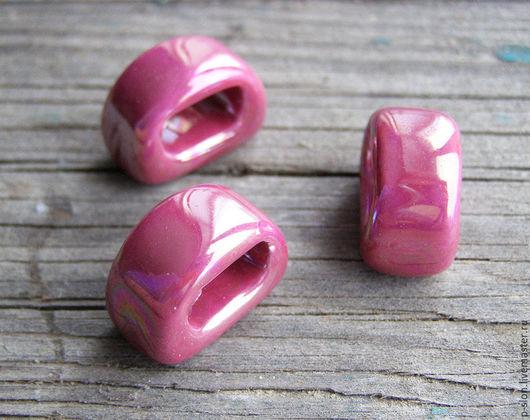 Для украшений ручной работы. Ярмарка Мастеров - ручная работа. Купить Керамическая бусина для regaliz (регализ) 9мм малиновая рег248. Handmade.
