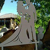 Свадебный салон ручной работы. Ярмарка Мастеров - ручная работа Топпер  свадебный. Handmade.