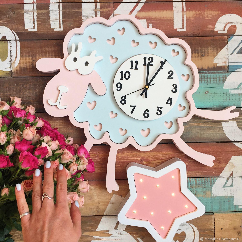 Clock Sheep light-pink/light-blue, Lamp, Moscow, Фото №1