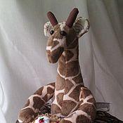 Для дома и интерьера ручной работы. Ярмарка Мастеров - ручная работа грелка на чайник-жирафа. Handmade.