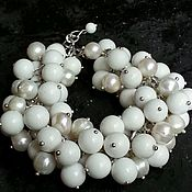 Украшения handmade. Livemaster - original item Bracelet made of pearls and agate