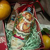 """Подарки к праздникам ручной работы. Ярмарка Мастеров - ручная работа Шишечка,массив: """"Зимние морозы"""". Handmade."""