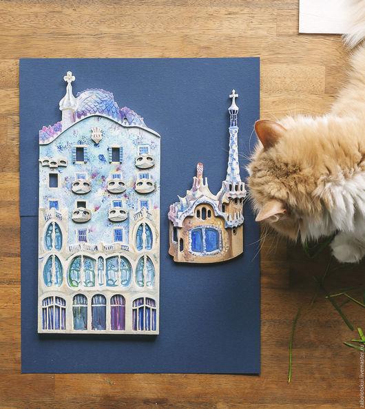 Город ручной работы. Ярмарка Мастеров - ручная работа. Купить Архитектура Гауди, панно на стену. Handmade. Испания, украшение