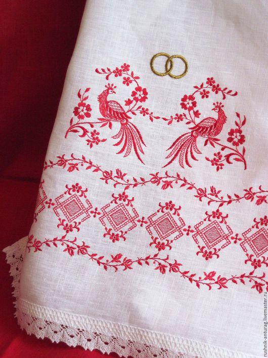 Свадебный рушник, Рушник на свадьбу, Рушник с вышивкой, Рушник для венчания, Венчальный рушник,  Союзный рушник, Рушник на каравай, Рушник на икону, Рушник свадебный, Павлины