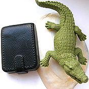 """Косметика ручной работы. Ярмарка Мастеров - ручная работа VIP """"Крокодил 18 см и портмоне""""Мыло мужское 3D Эксклюзивное мыло.. Handmade."""