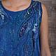 """Платья ручной работы. Ярмарка Мастеров - ручная работа. Купить Туника """" Аквамарин"""". Handmade. Тёмно-синий, шёлк натуральный"""