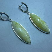 Украшения handmade. Livemaster - original item Elegant earrings AMBER,silver.. Handmade.