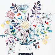 Картины и панно ручной работы. Ярмарка Мастеров - ручная работа Время цветов. Утро. Акварель.. Handmade.