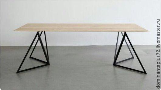 Мебель ручной работы. Ярмарка Мастеров - ручная работа. Купить Стол в стиле ЛОФТ. Handmade. Золотой, дуб, металл, Дуб