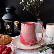 Посуда handmade. Livemaster - original item Scandinavian mug 400 ml series Kiss Arven. Handmade.