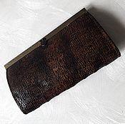 Сумки и аксессуары handmade. Livemaster - original item Women`s wallet made of genuine leather in brown color. Handmade.