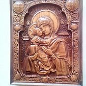 Картины и панно ручной работы. Ярмарка Мастеров - ручная работа Резные иконы из дерева. Handmade.