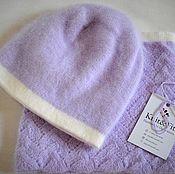 Caps handmade. Livemaster - original item Hat and Snood. Angora. Hat female. Snood women`s. Handmade.