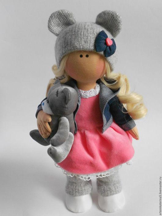 Куклы тыквоголовки ручной работы. Ярмарка Мастеров - ручная работа. Купить Текстильная кукла. Олеся. Handmade. Серый, кукла в подарок