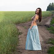 Одежда ручной работы. Ярмарка Мастеров - ручная работа Длинная юбка из крапивы (рами). Handmade.