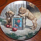 Винтаж handmade. Livemaster - original item Fun plates series