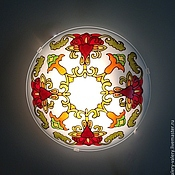"""Для дома и интерьера ручной работы. Ярмарка Мастеров - ручная работа Бра """"Красный цветок"""". Handmade."""
