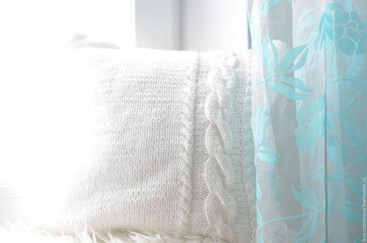 Текстиль, ковры ручной работы. Ярмарка Мастеров - ручная работа. Купить Вязаная подушка. Handmade. Вязаная подушка, для фотосессии