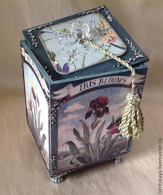 """Шкатулки ручной работы. Ярмарка Мастеров - ручная работа. Купить Короб - ларец """"Селекция"""". Handmade. Разноцветный, ирис, практичный подарок"""