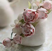 """Свадебный салон ручной работы. Ярмарка Мастеров - ручная работа Венок для прически """"Розовый май"""". Handmade."""