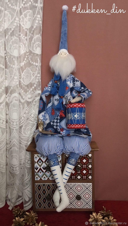 Санта Клаус в белых сапожках, Куклы Тильда, Чебоксары,  Фото №1