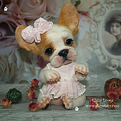 Куклы и игрушки ручной работы. Ярмарка Мастеров - ручная работа Французский бульдог Флорис. Handmade.
