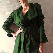 """Одежда ручной работы. Ярмарка Мастеров - ручная работа Ассиметричная рубашка  """"Изумрудный мистик"""". Handmade."""