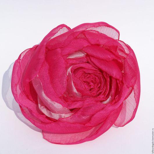 """Броши ручной работы. Ярмарка Мастеров - ручная работа. Купить Крупный пион """"Highlight"""". Handmade. Фуксия, брошь цветок"""
