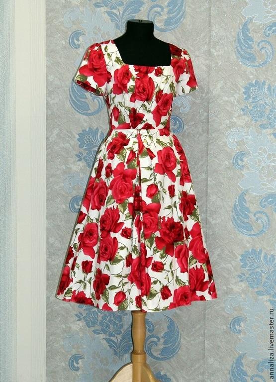 Выкройка для платья в стиле ретро