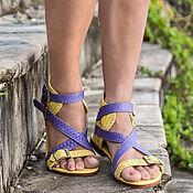 Обувь ручной работы handmade. Livemaster - original item Sandals made of genuine Python leather . Shoes from Python. Handmade.