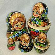 Русский стиль handmade. Livemaster - original item Matreshka 5 places Bells. Handmade.