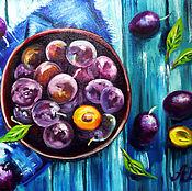 Картины и панно handmade. Livemaster - original item Denim plum. Handmade.