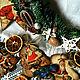 Новый год 2017 ручной работы. Ярмарка Мастеров - ручная работа. Купить Плоские деревянные новогодние игрушки-подвески. Handmade. Комбинированный
