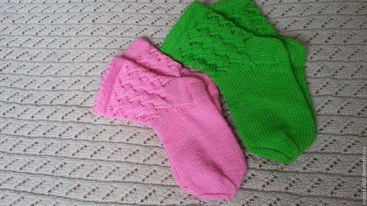 Носки, Чулки ручной работы. Ярмарка Мастеров - ручная работа. Купить Носки вязаные. Handmade. Комбинированный, вязание спицами, спицы