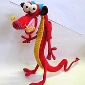 Stuffed Toys handmade. Livemaster - original item Dragon Mushu knitted frame toy. Handmade.